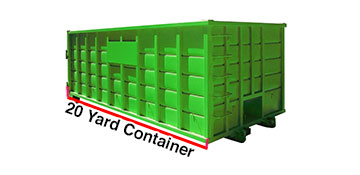 20 yard dumpster rental in Wesminster, CO